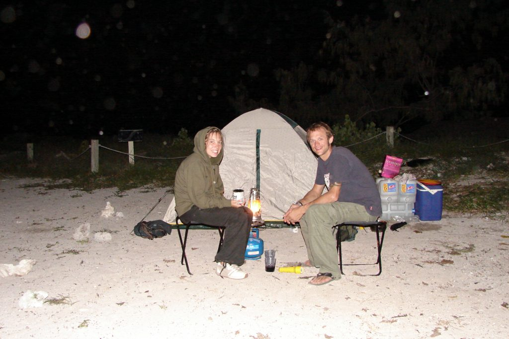 Camping on Lady Musgrave Island, Australia