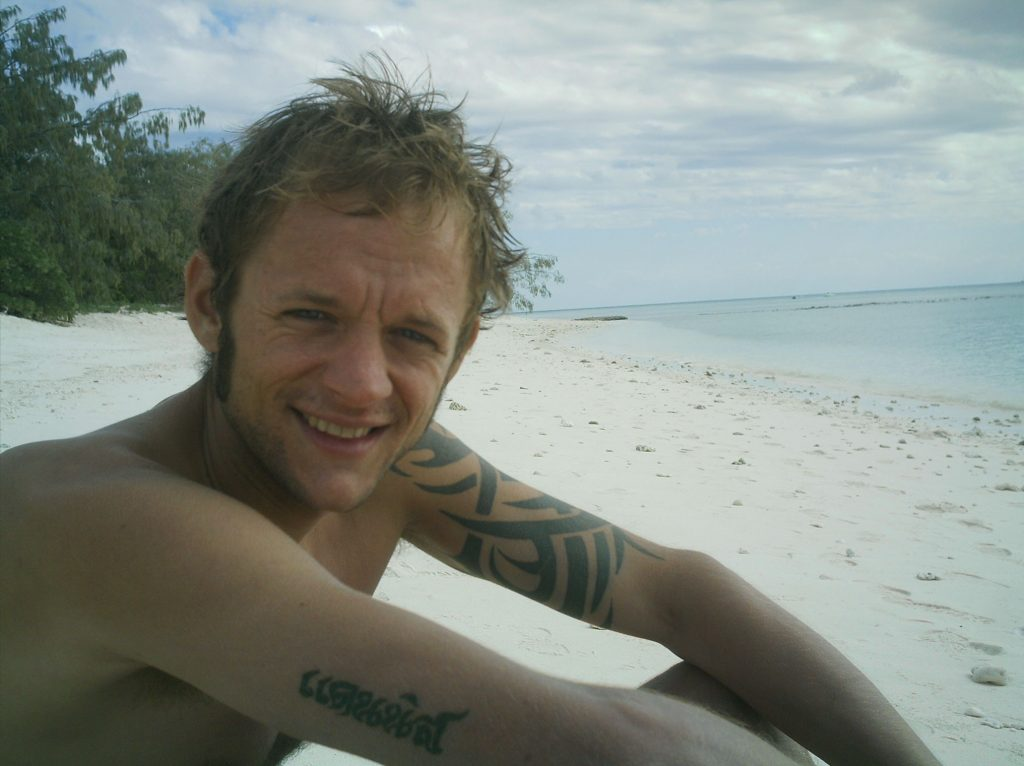 Relaxing on Lady Musgrave Island, Great Barrier Reef