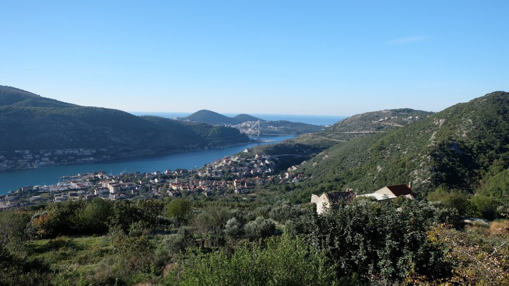 Beautiful views over Mokovica and Dubrovnik, Croatia