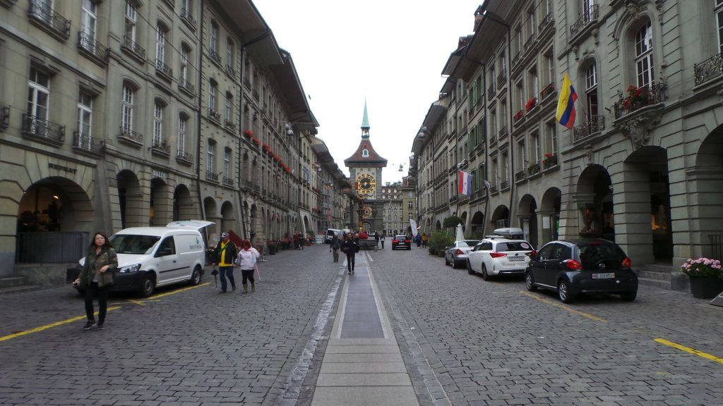 cobbled streets of Bern UNESCO townSwitzerland