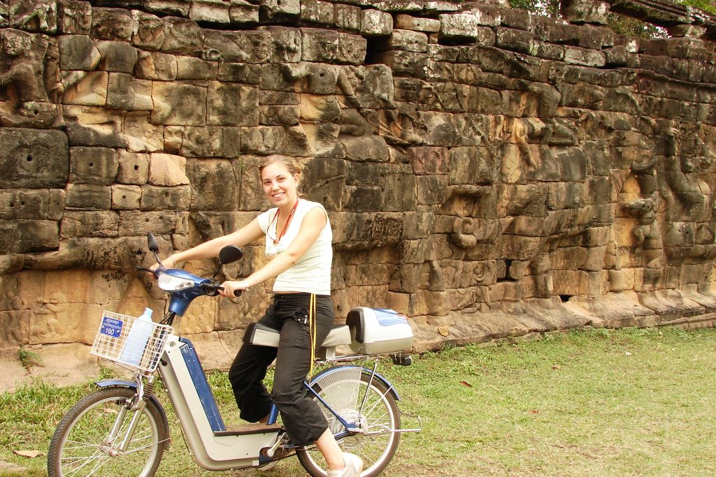 Electric Bikes at the Temples of Angkor, Cambodia