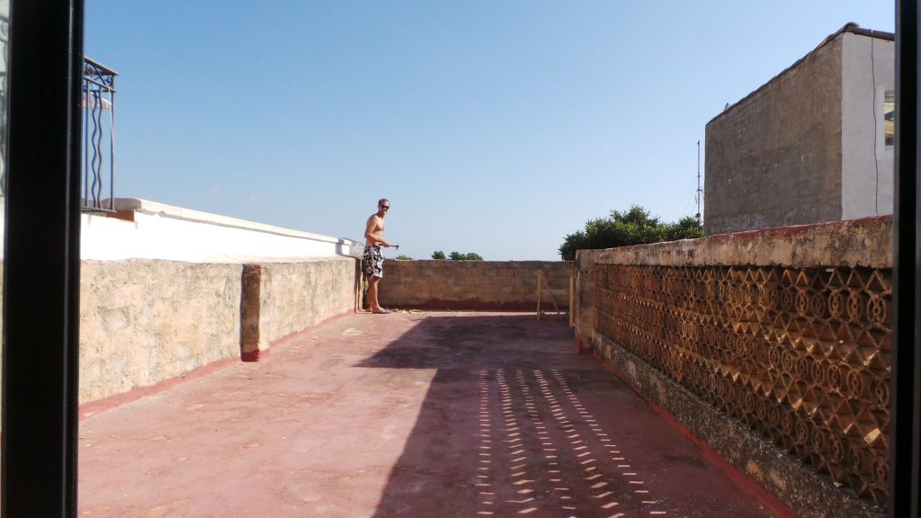 Roof terrace before the renovation