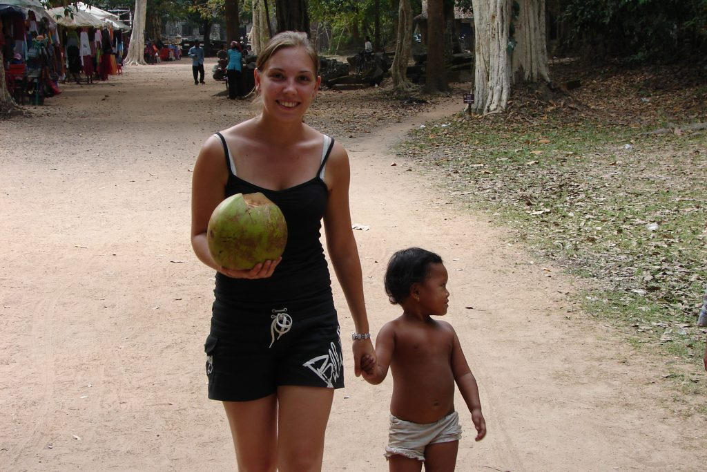 Making friends at The Temples of Angkor, Siem Reap, Cambodia