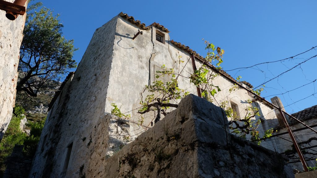 Ruin of Croatian home in Dubrovnik