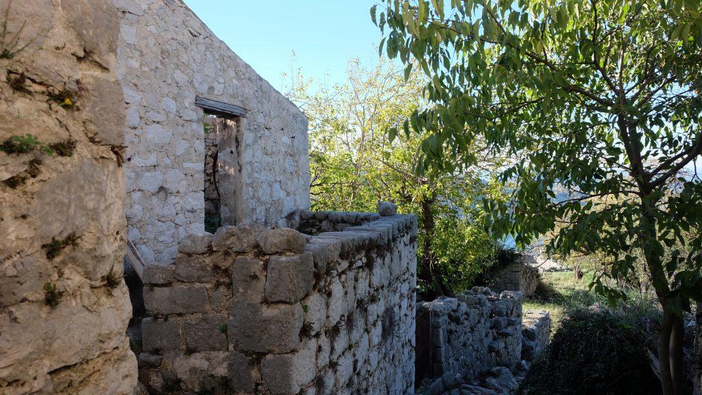 Ruin of Croatian home