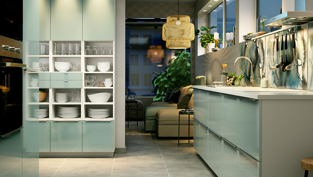 Green kitchen inspiration ideas for Cuisine kallarp