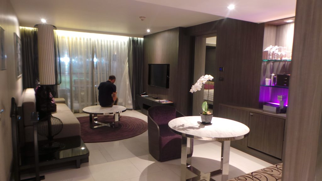 Living Area of the Grande Suite - Le Meridien Suvarnabhumi