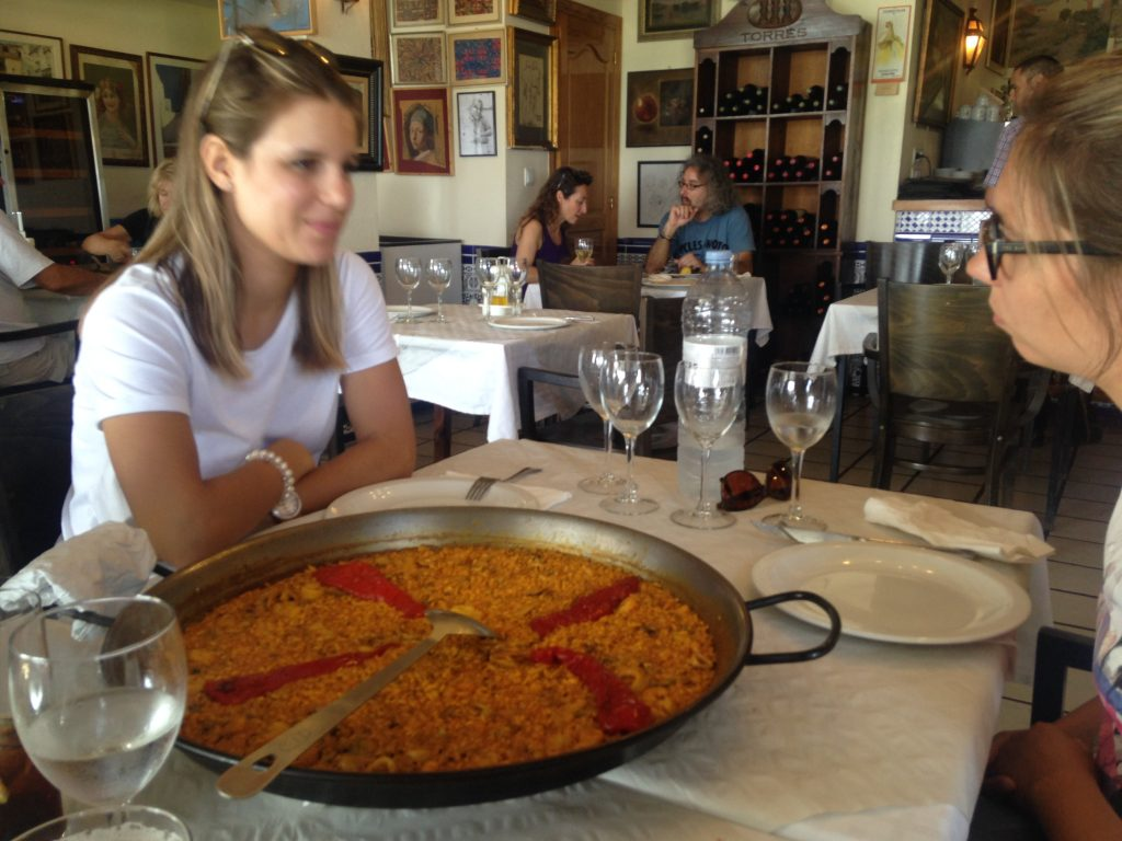 Paella at San Miguel Hotel, Altea