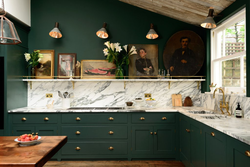 deVOL Classic Peckham Rye green kitchen