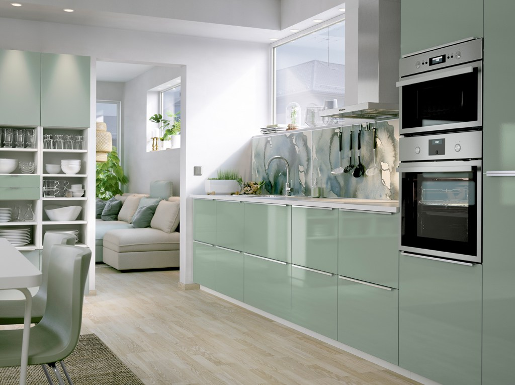 green kitchen inspiration: ikea