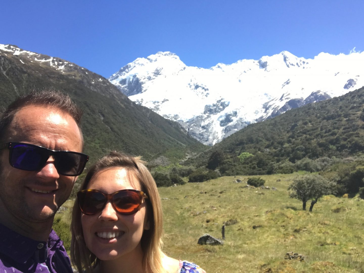 Darren and Vic in Mount Cook