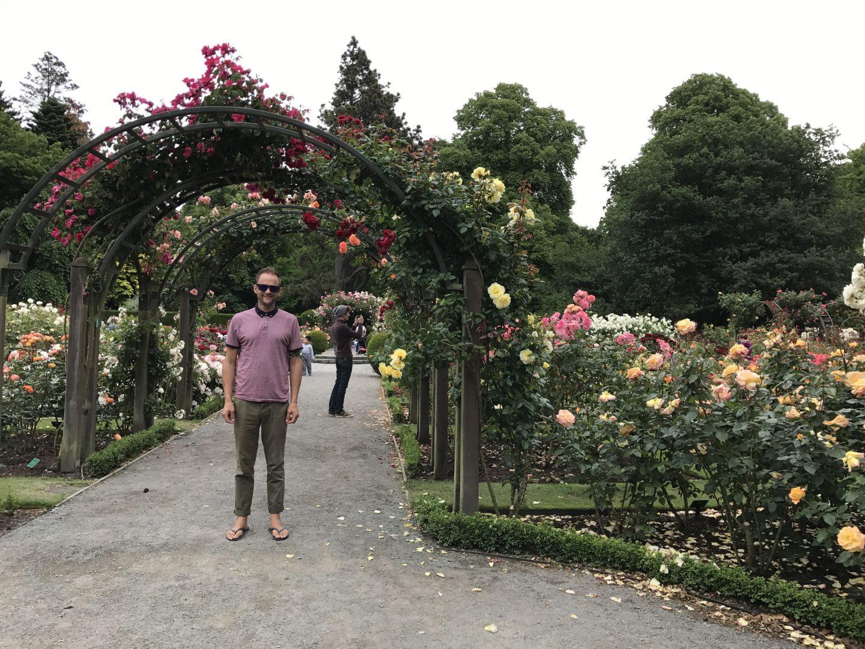 Darren at the Christchurch Botanic Gardens