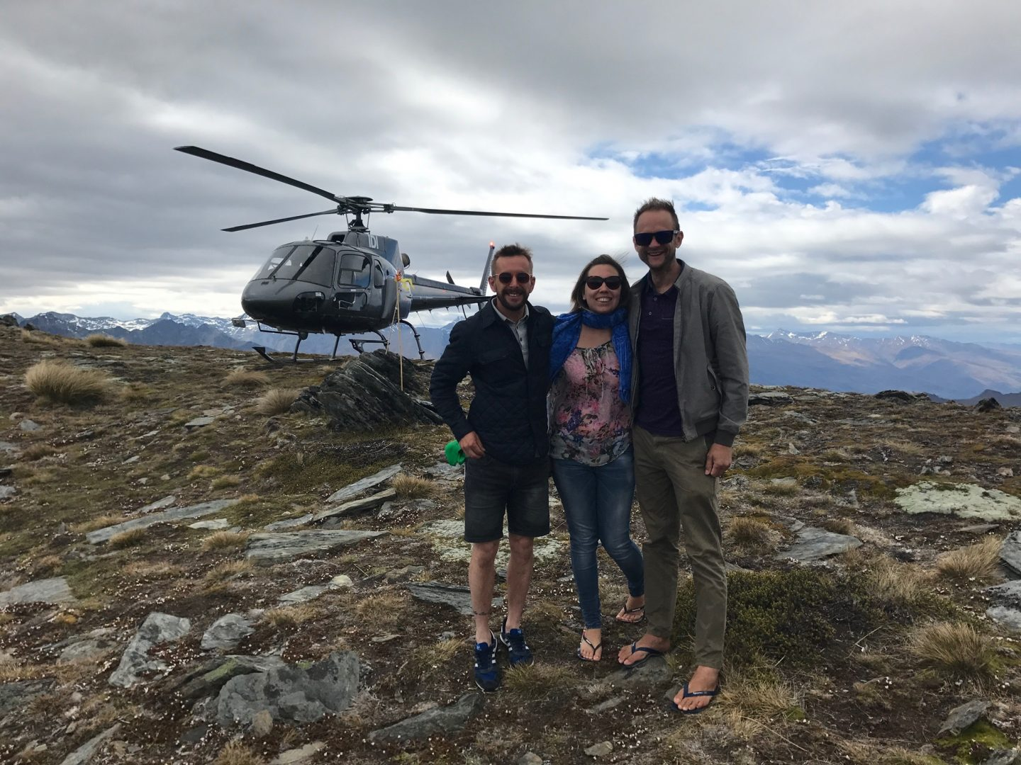 Helicopter ride in Queenstown, New Zealand