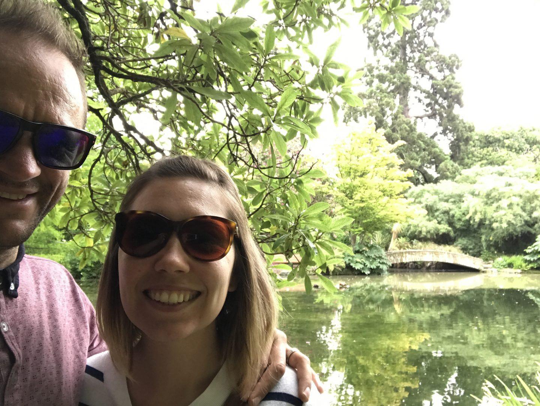 Vic and Darren at Christchurch Botanic Gardens