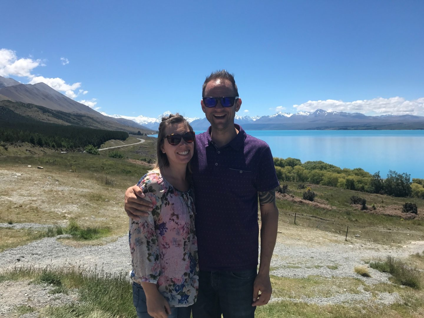 Vic and Darren in Mount Cook