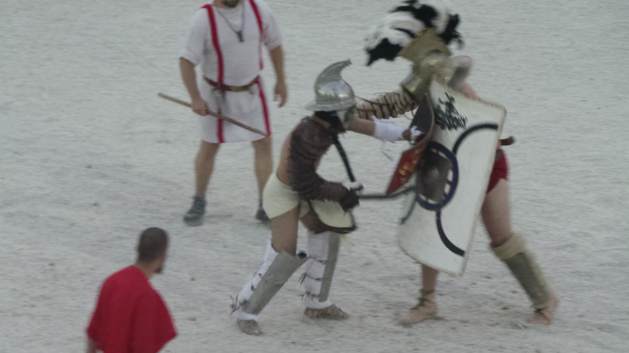 Gladiator Fighting at Pula Colosseum
