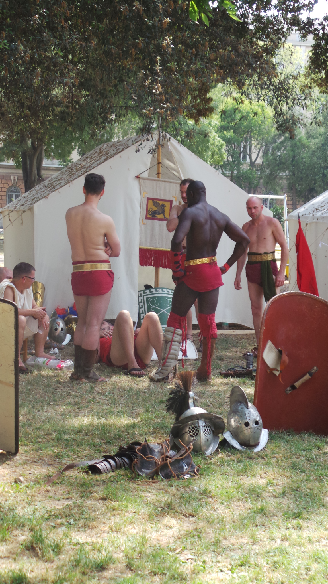 Gladiators at Festival of Antiquity, Pula, Croatia