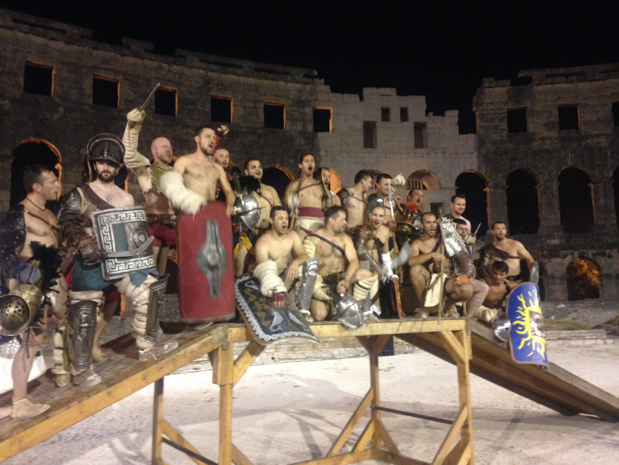 Gladiators at Pula Colosseum
