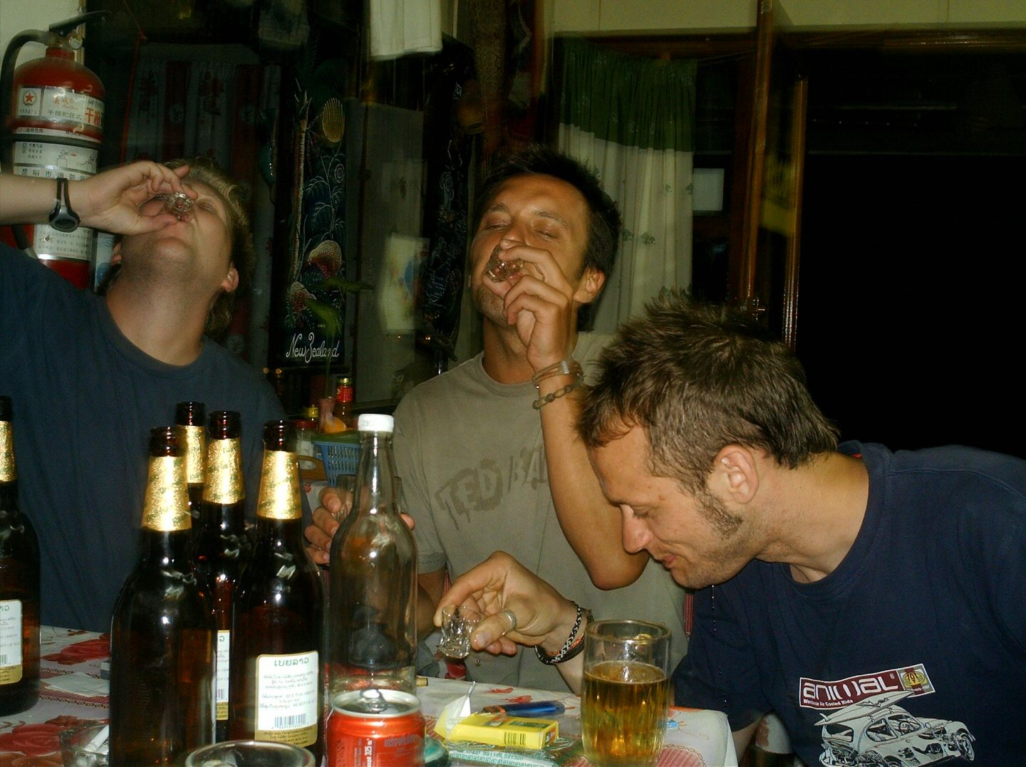 Lao whiskey drinking
