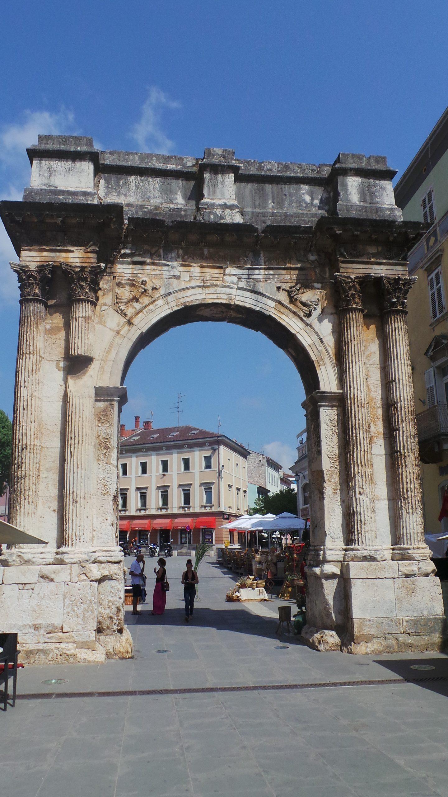 Triumphal Arch of Sergius, Pula, Croatia