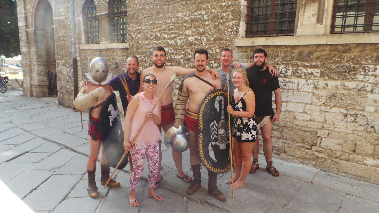 Typical Tourist Snap with the Gladiators