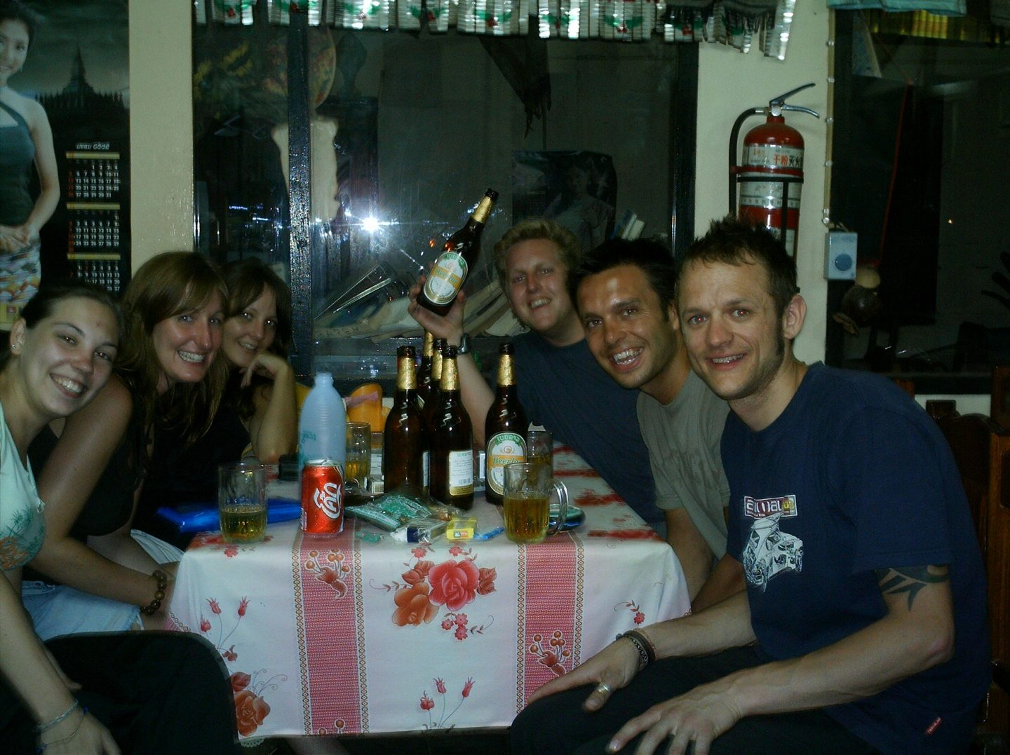 drinking in Laos