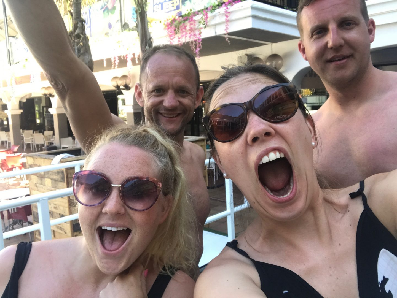 Group snap at Ibiza Rocks