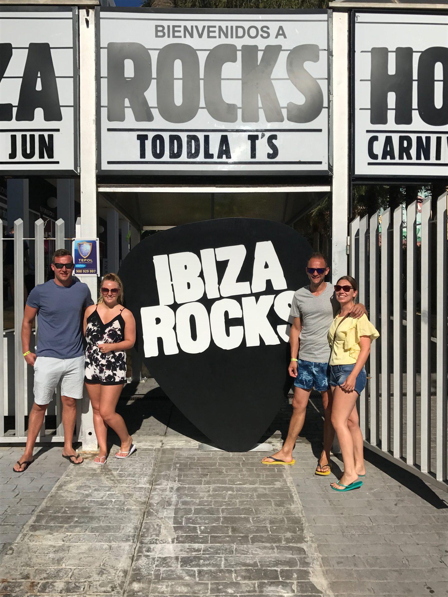 Posing at Ibiza Rocks Hotel