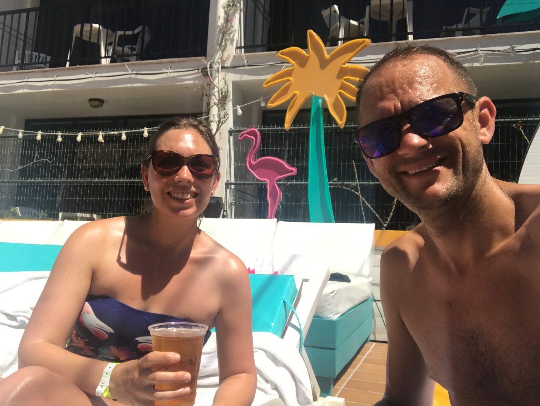 Sunbathing in Ibiza Rocks at Cuckoo Land Pool Party
